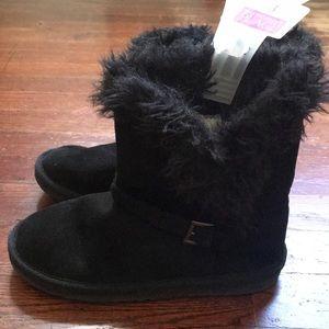 Faux Fur Trimmed Boots Sz 3